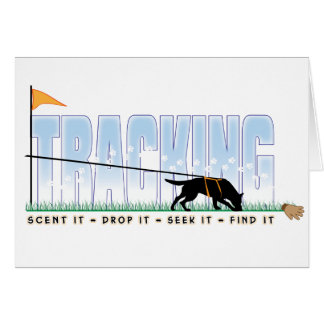 Tracking Dog Greeting Cards