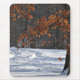 Tracks in the snow mouse pad