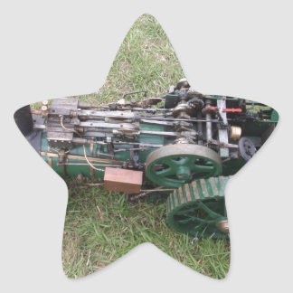Traction Engine Model Star Sticker