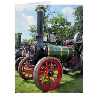 TRACTION ENGINES BIG GREETING CARD