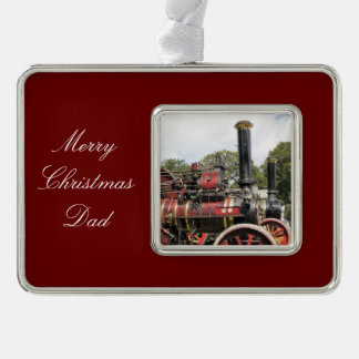 TRACTION ENGINES SILVER PLATED FRAMED ORNAMENT