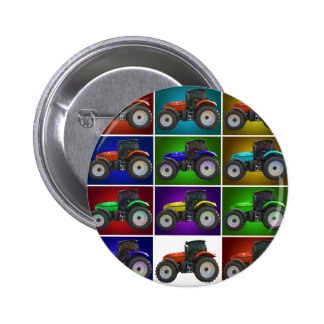 tractor 6 cm round badge