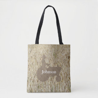 Tractor And Wheat Monogram Tote