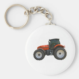 tractor basic round button key ring