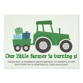 Tractor Birthday Party Invite