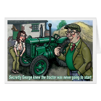 Tractor Card Uncle George 1