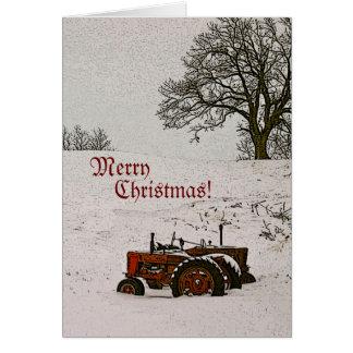 Tractor Christmas Card