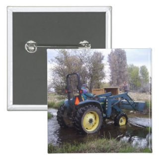 Tractor  Creek Clearing 15 Cm Square Badge