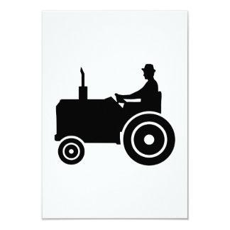 """Tractor farmer 3.5"""" x 5"""" invitation card"""