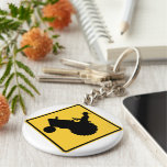 Tractor Farmer Sign Basic Round Button Key Ring