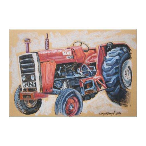 Tractor Ferguson BZ126 Stretched Canvas Prints