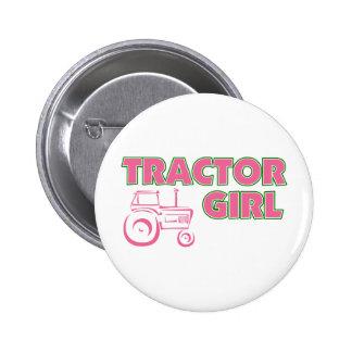 Tractor Girl 6 Cm Round Badge