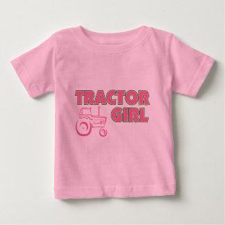 Tractor Girl Baby T-Shirt