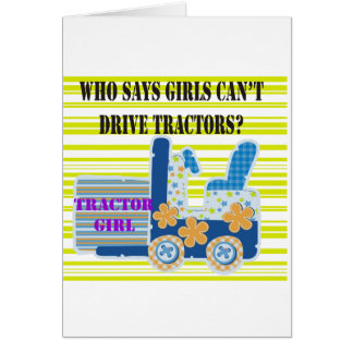 Tractor Girl Tshirts and Gifts Greeting Card