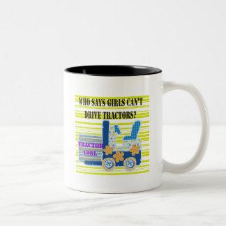 Tractor Girl Tshirts and Gifts Mugs