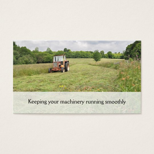 Tractor haymaking business card