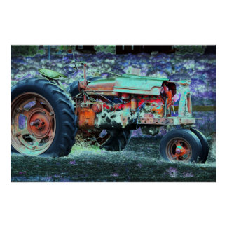 Tractor, Highway 50, Nevada Posters