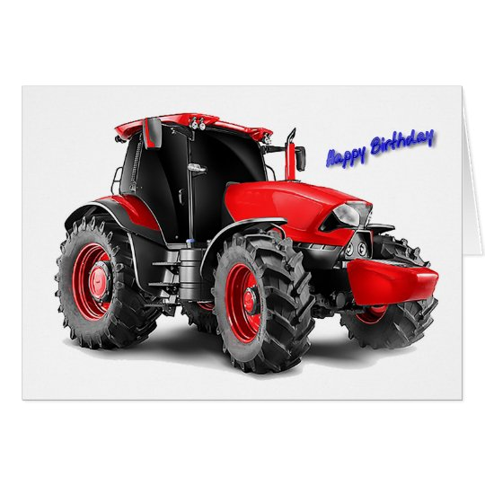 Tractor image for birthday-greeting-card card
