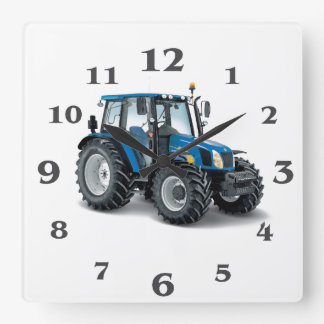 Tractor image for Round Large Wall Clock