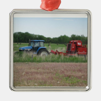 Tractor in the Field Christmas Ornament