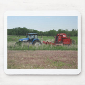Tractor in the Field Mousepads