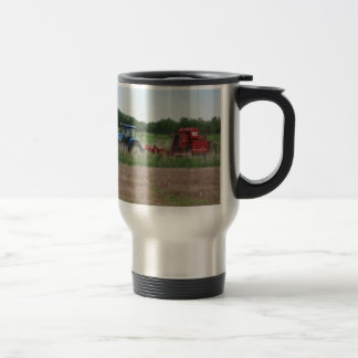Tractor in the Field Travel Mug
