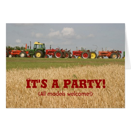 Tractor Invitation: All Models Welcome Card