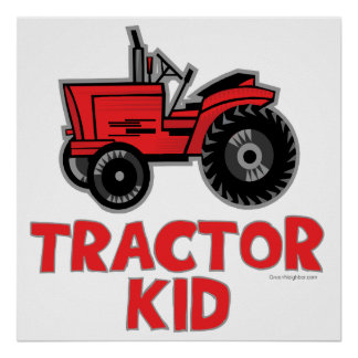 Tractor Kid Poster