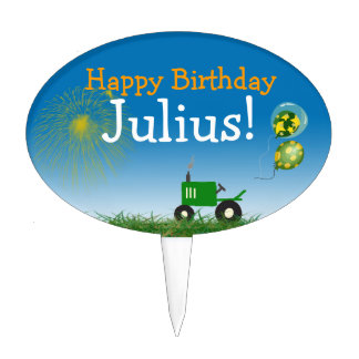 Tractor Party Cake Decoration Cake Topper