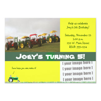 Tractor Party Invitation: Tractors Galore Card