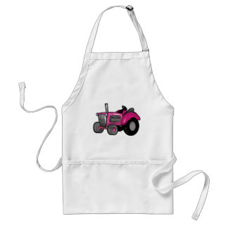 Tractor - Pink Adult Apron