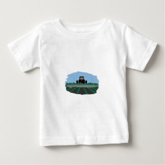 Tractor Plowing Fields Baby T-Shirt