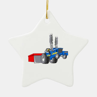 TRACTOR PULL CHRISTMAS ORNAMENT