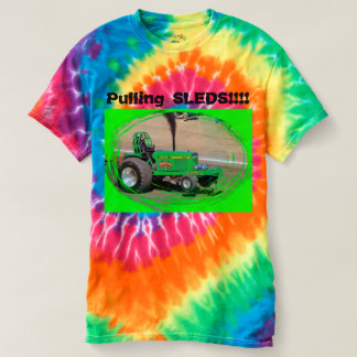 Tractor Pull Pulling Sleds Tie Died T-Shirt