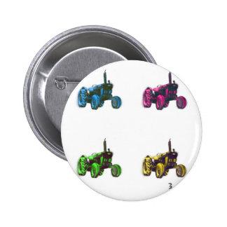 tractor rainbow 6 cm round badge