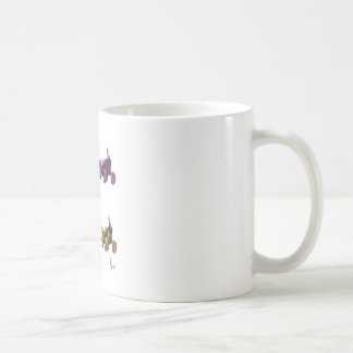 tractor rainbow coffee mug