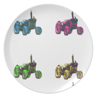 tractor rainbow plate