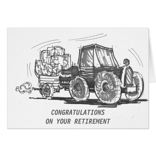 Tractor Retirement Card
