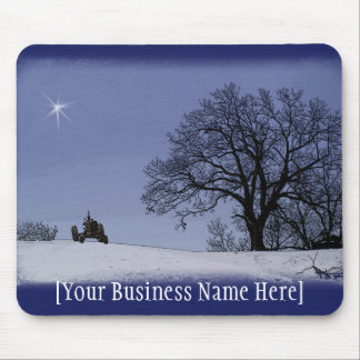 Tractor & Star Mousepad: Add Your Business Name Mouse Mat