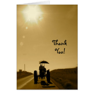Tractor Thank-You Card