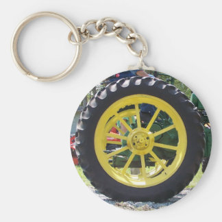 Tractor tire key ring