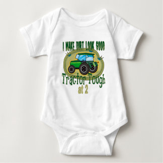 Tractor Tough at 2 Baby Bodysuit