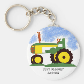 Tractor under Blue Sky Key Ring