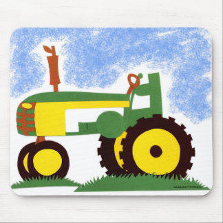 Tractor under Blue Sky Mouse Mat