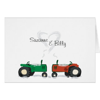 Tractor Valentine Card