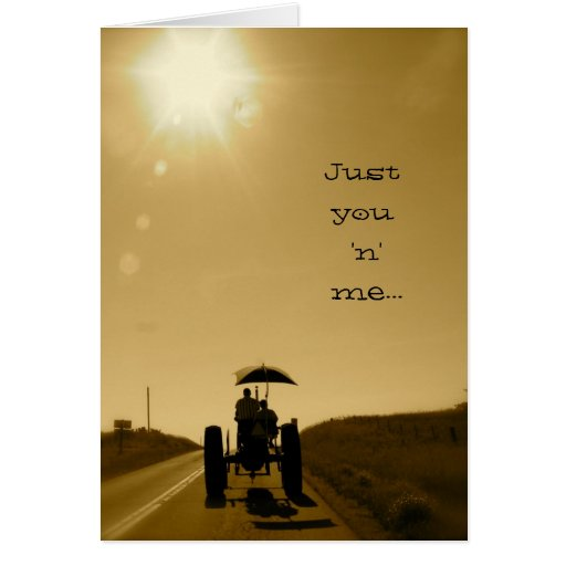 Tractor Valentine Card: Just you 'n' me