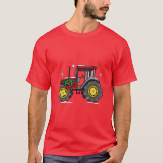 Tractor with Christmas Wreath T-Shirt