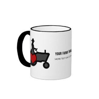 Tractor with Heart  Love the Country Ringer Mug