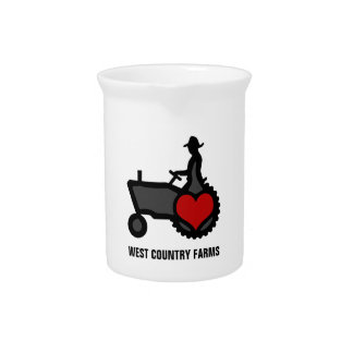 Tractor with Heart  Love the Country Pitcher