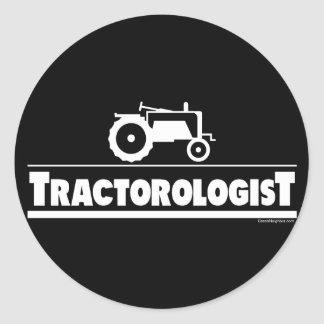 Tractorologist - Tractor Classic Round Sticker
